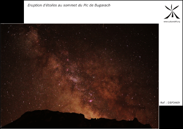Eruption of stars at the top of the Peak of Bugarach