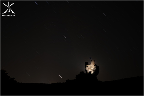 Shooting stars on the castle of Penne
